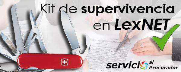 Kit de supervivencia en LexNET de servicionalprocurador.com